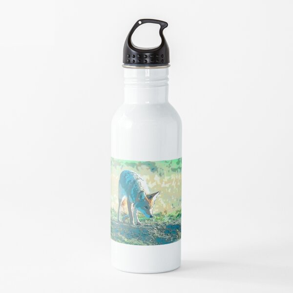Coyote on the prowl Water Bottle