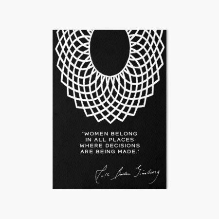 Dissent collar, rbg poster, RUTH BADER GINSBURG, lawyer gift Art Board Print
