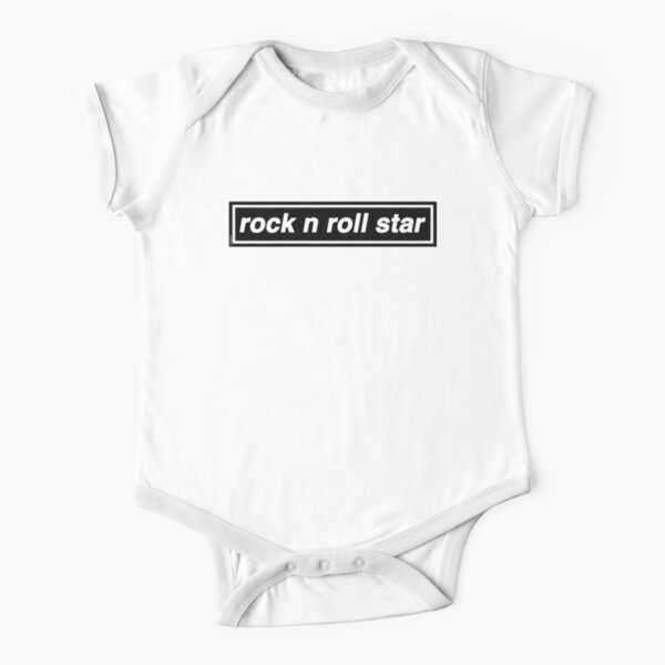 Rock n Roll Star - OASIS Band Tribute Short Sleeve Baby One-Piece
