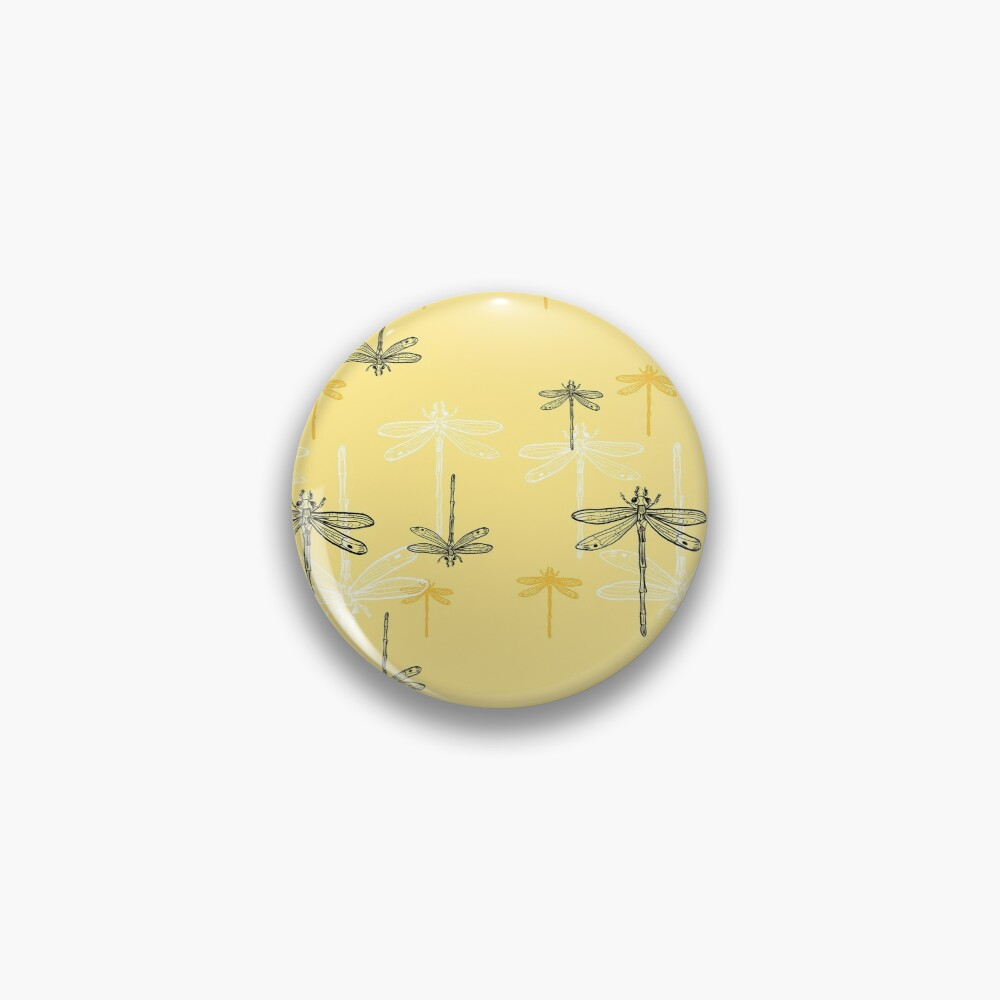 Dragonfly _ yellow theme Pin