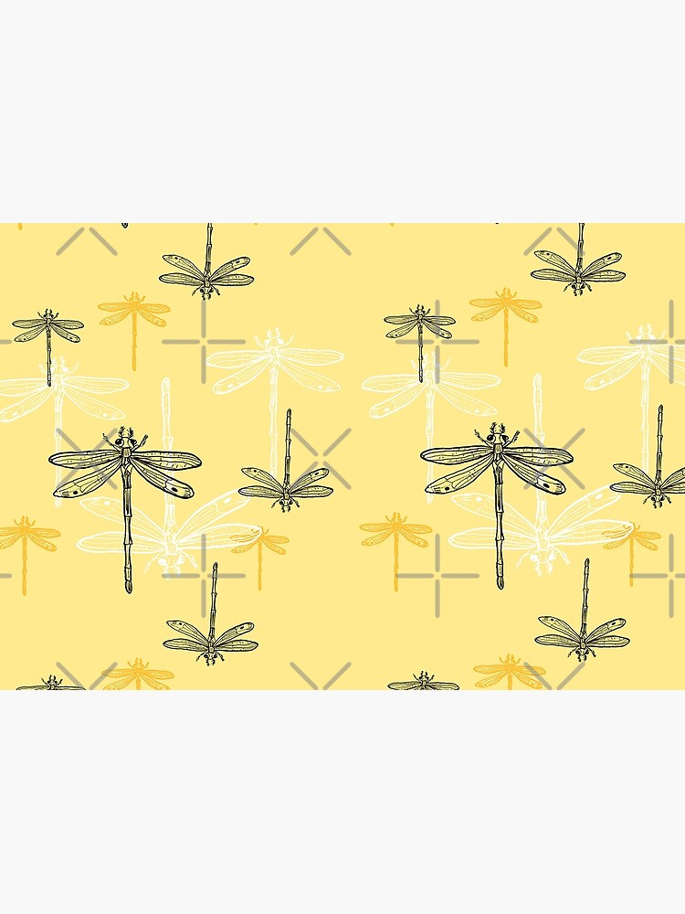 Dragonfly _ yellow theme by ebozzastudio