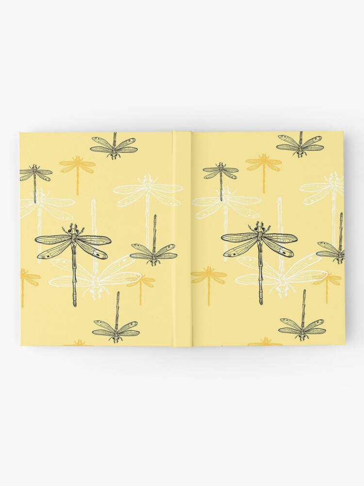 Alternate view of Dragonfly _ yellow theme Hardcover Journal
