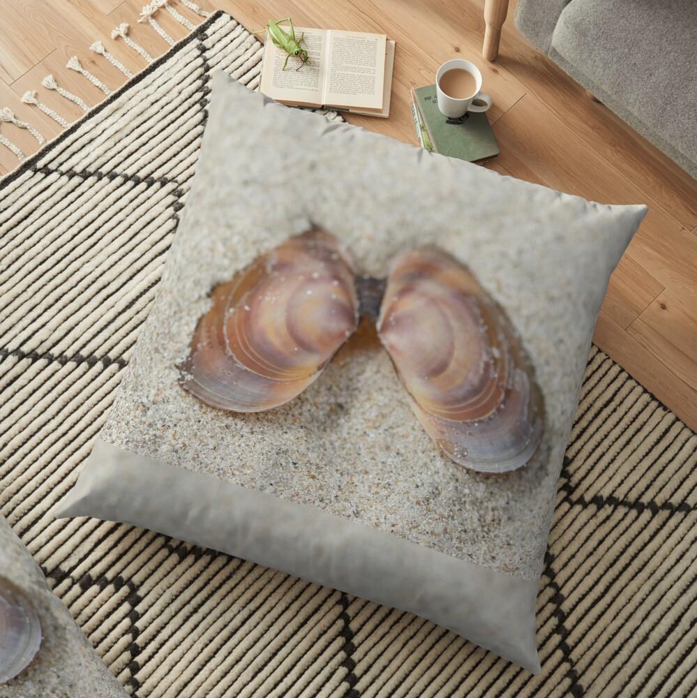 Subtle beach beauty Floor Pillow