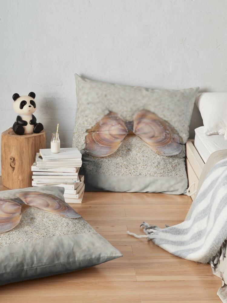 Alternate view of Subtle beach beauty Floor Pillow