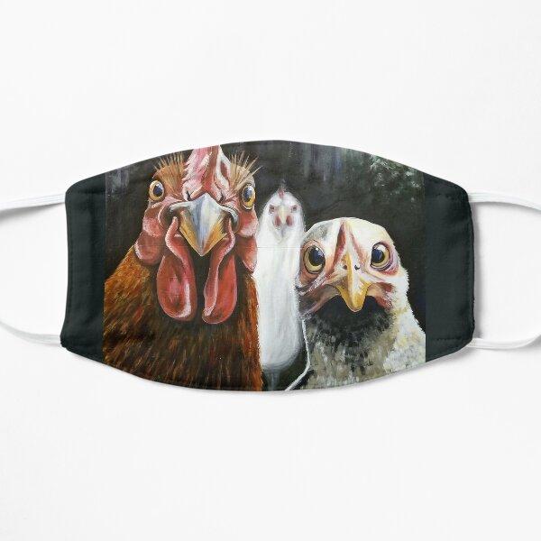 Photobomb Chickens Flat Mask