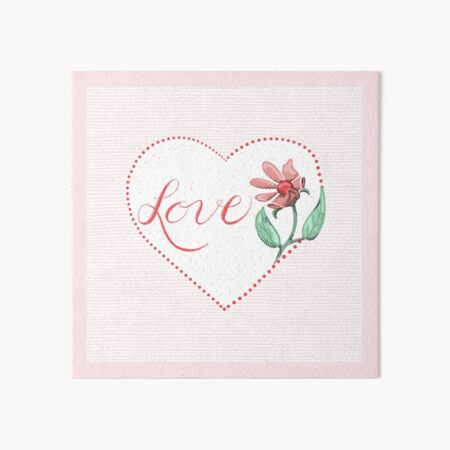Send Love with Heart and Flowers Art Board Print