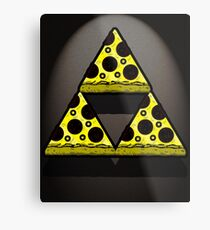 Pizza Triforce In Color Metal Print