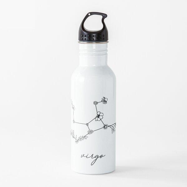 Virgo Zodiac Wildflower Constellation Water Bottle