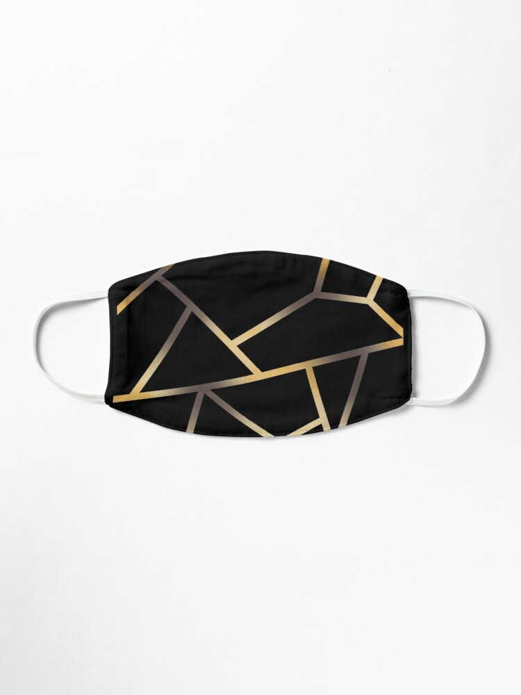 Alternate view of Linework gold phone case Mask