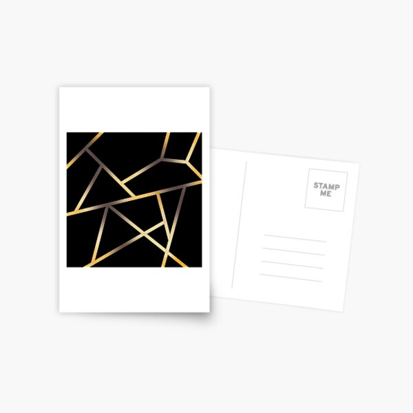 Linework gold phone case Postcard