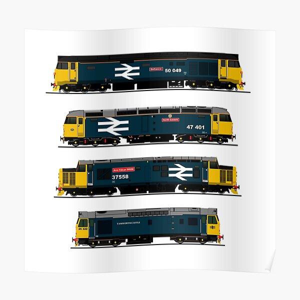 BRITISH RAIL 1980's DIESEL LOCOMOTIVES Poster