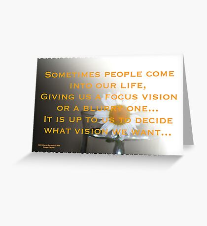 Vision Greeting Card