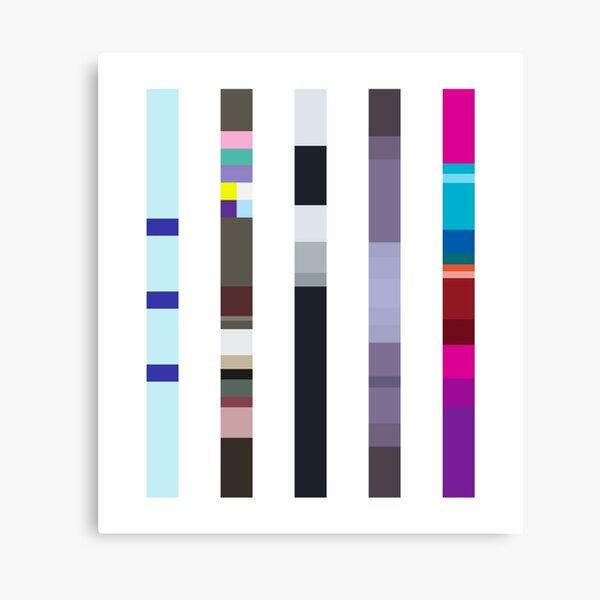 Album Palettes –New Order (80s) Canvas Print