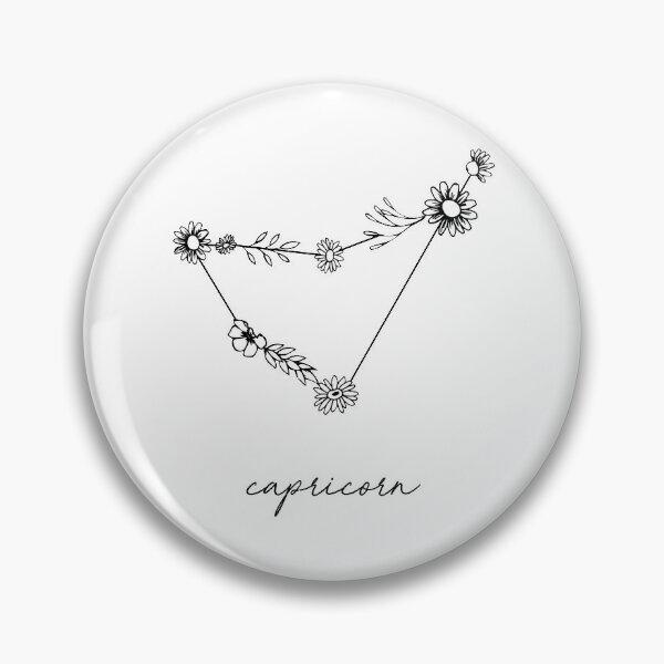 Capricorn Zodiac Wildflower Constellation Pin