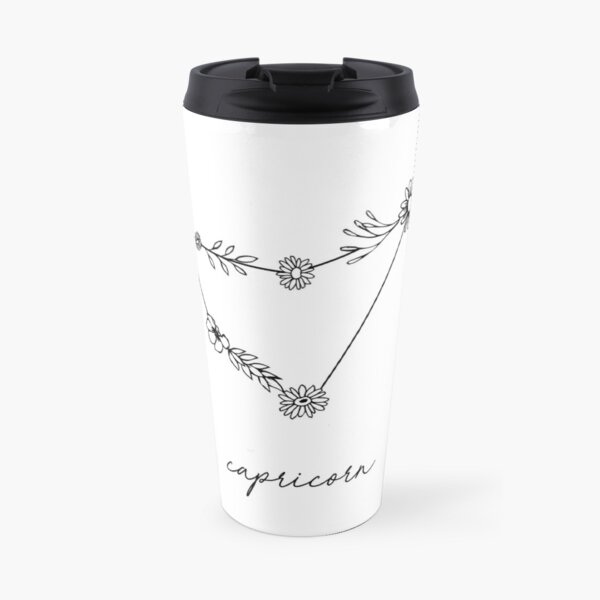 Capricorn Zodiac Wildflower Constellation Travel Mug