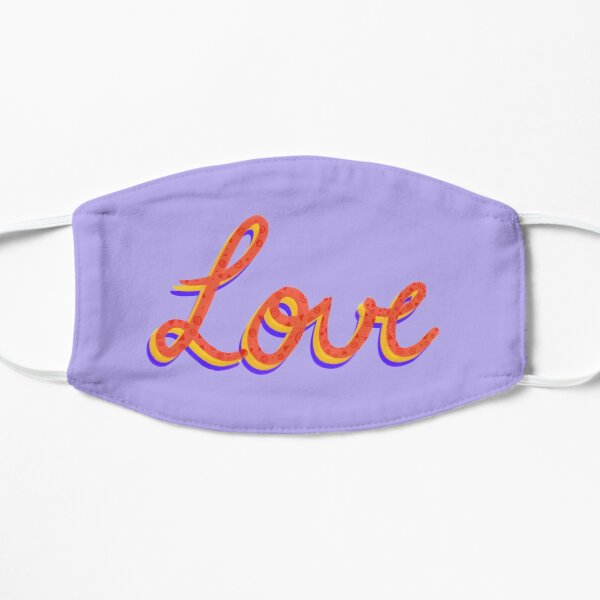 Love lettering calligraphy Mask