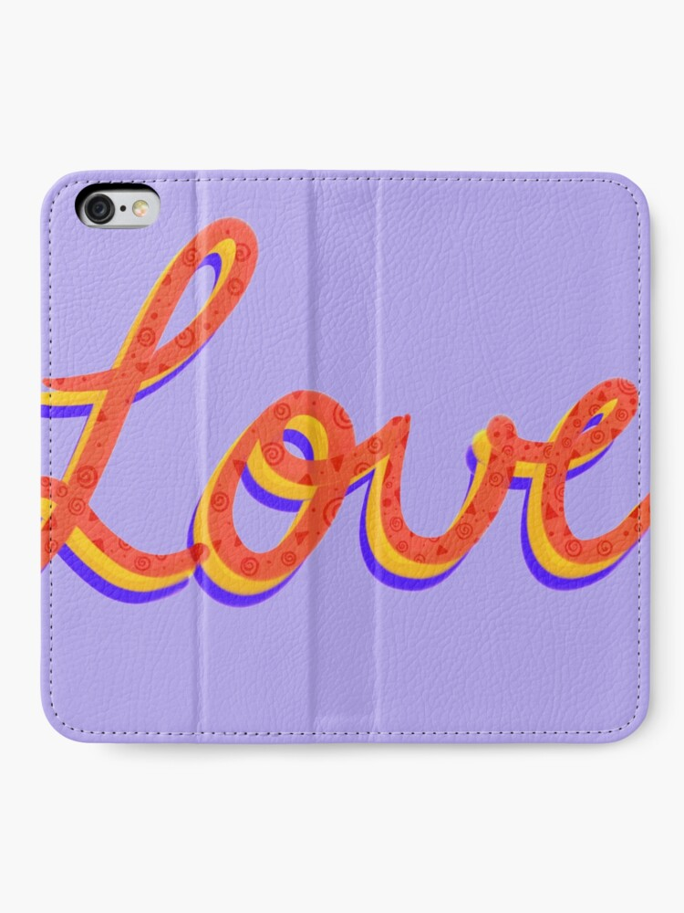 Alternate view of Love lettering calligraphy iPhone Wallet