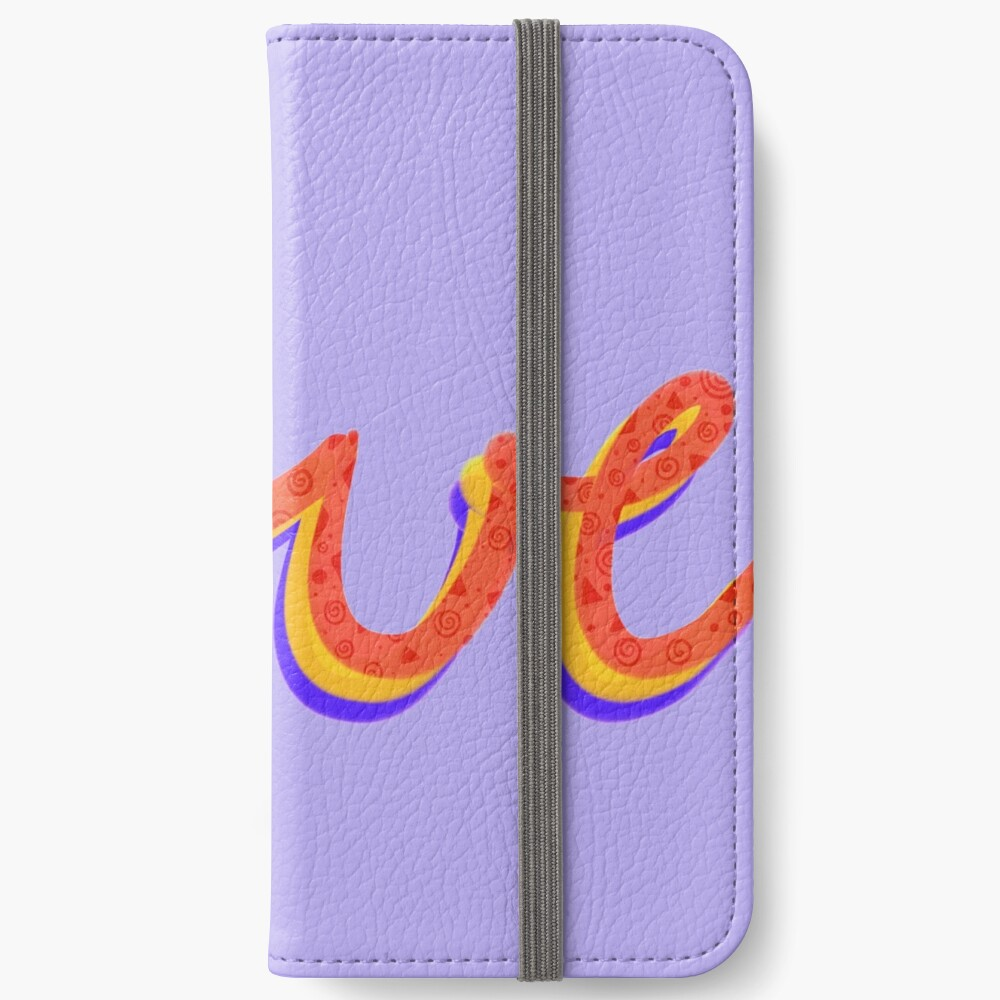 Love lettering calligraphy iPhone Wallet