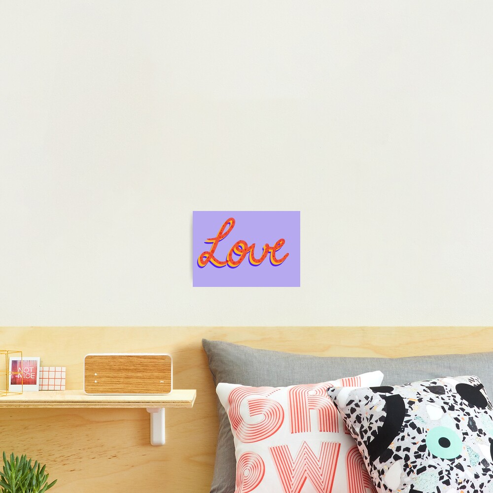 Love lettering calligraphy Photographic Print