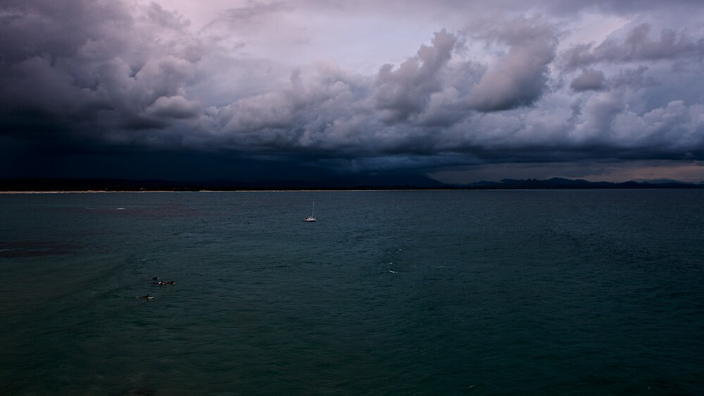 Byron Bay...a storm brewing. by Jordan Miscamble