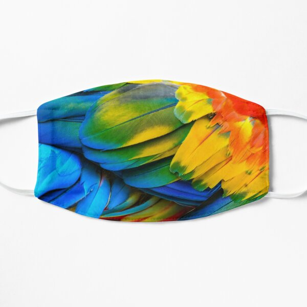 Colorful Parrot  Flat Mask