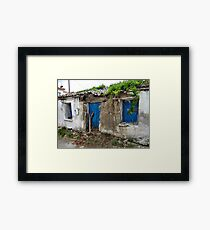 Fix a few slates and paint the door then it will be as good as new !! Framed Print