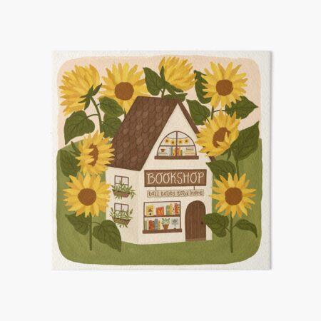 Sunflower Bookshop Art Board Print