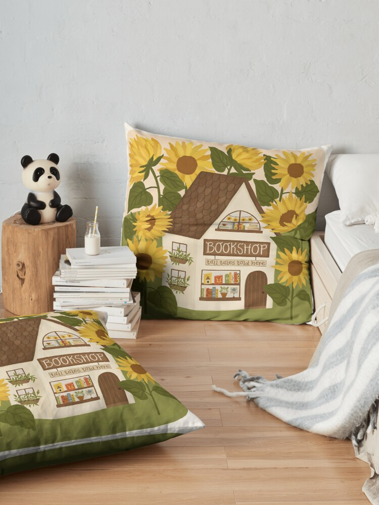 Alternate view of Sunflower Bookshop Floor Pillow