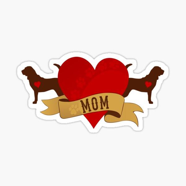 Tattoo Style Bloodhound Sticker