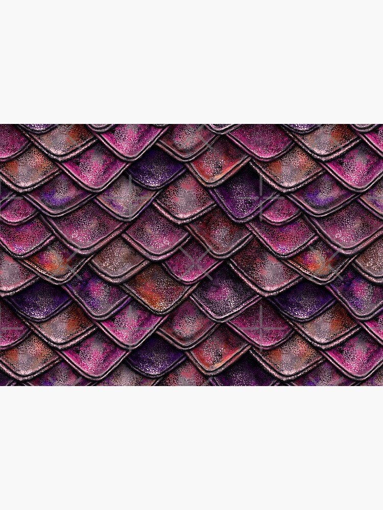 Fuchsia Pink Dragon Scales by 99stars