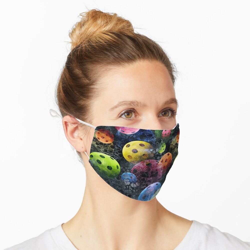 Fun Sporty Pickleball Pattern Mask