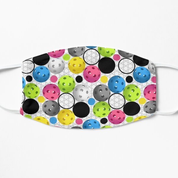 Modern Colorful Pickleball Pattern Mask