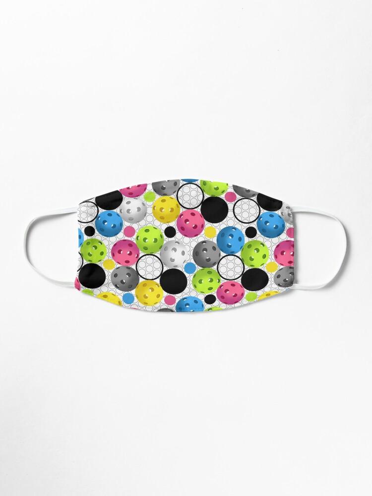 Alternate view of Modern Colorful Pickleball Pattern Mask