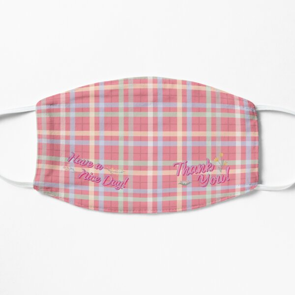 Pretty Pink Plaid Mask