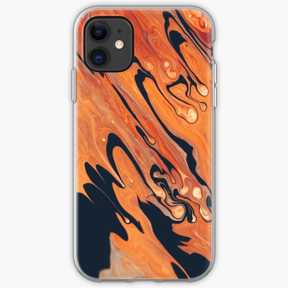 Black and orange abstract art phone case iPhone Case & Cover
