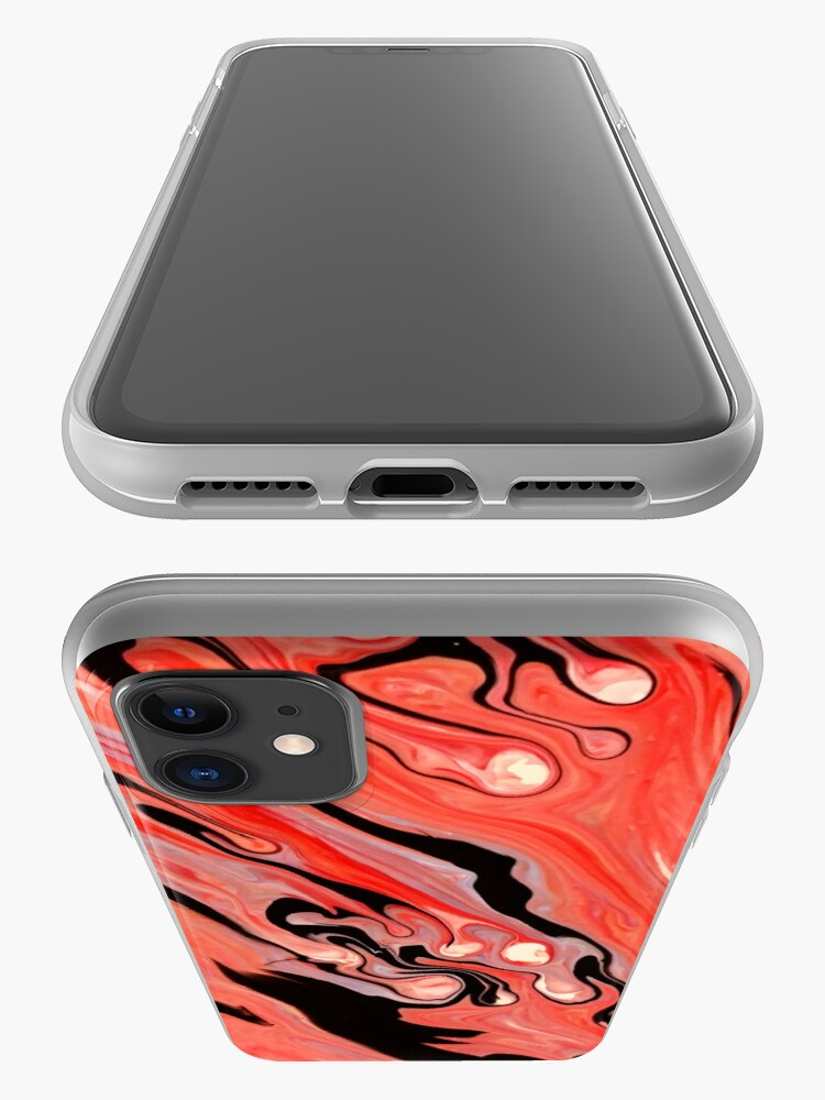 Alternate view of Black and red abstract art phone case iPhone Case & Cover