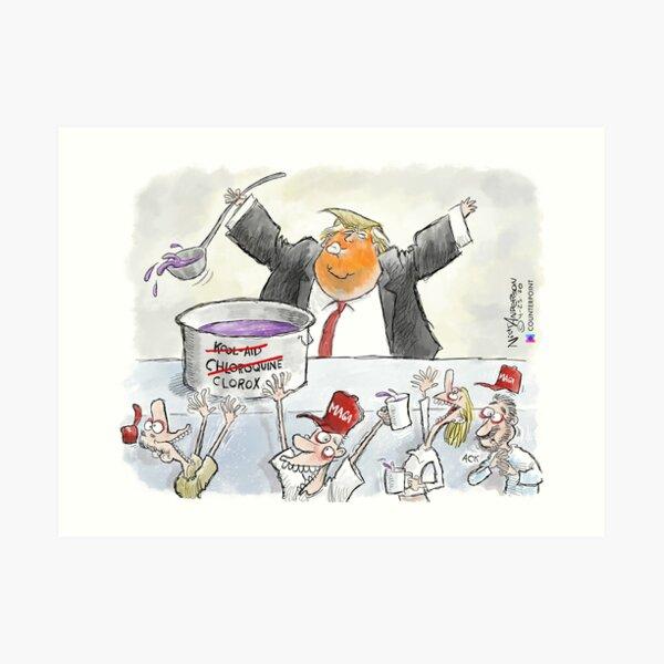 The Trump Cult Art Print