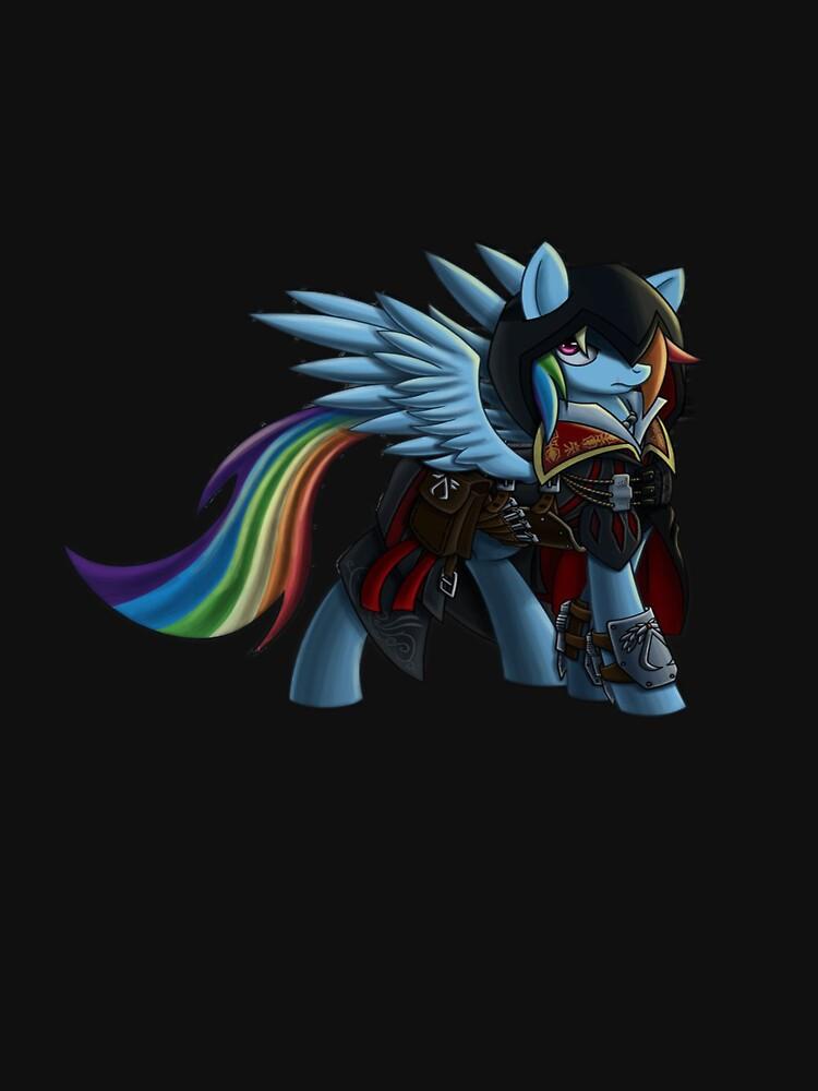 Rainbow Dash as Ezio Auditore | Unisex T-Shirt