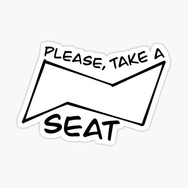 Cyclohexane Chair Conformation Sticker