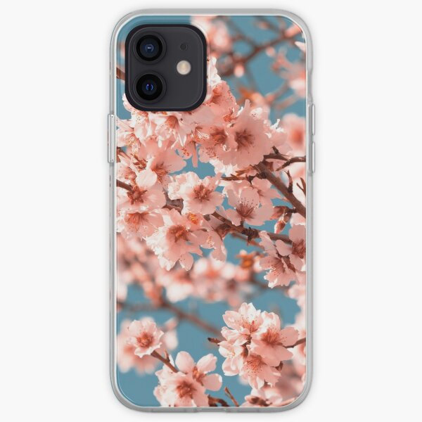 Pink Flowers Blooming Peach Tree at Spring iPhone Soft Case
