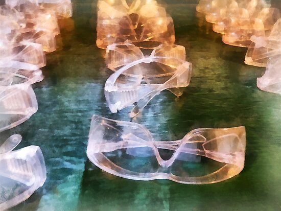 Rows of Safety Goggles by Susan Savad