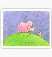 Little Pink Lamb Sticker