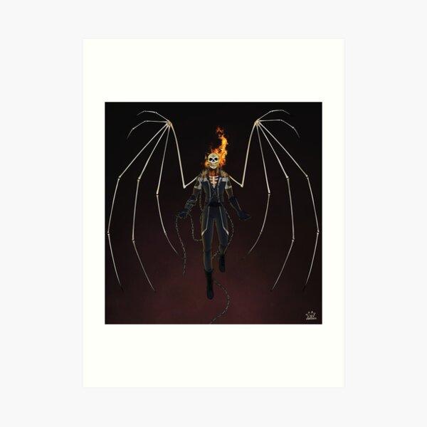Angel of Vengeance -MCOC Champion Mash Up Art Print