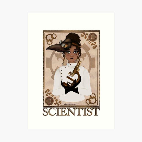 Scientist (STEAMpunk Art) Art Print