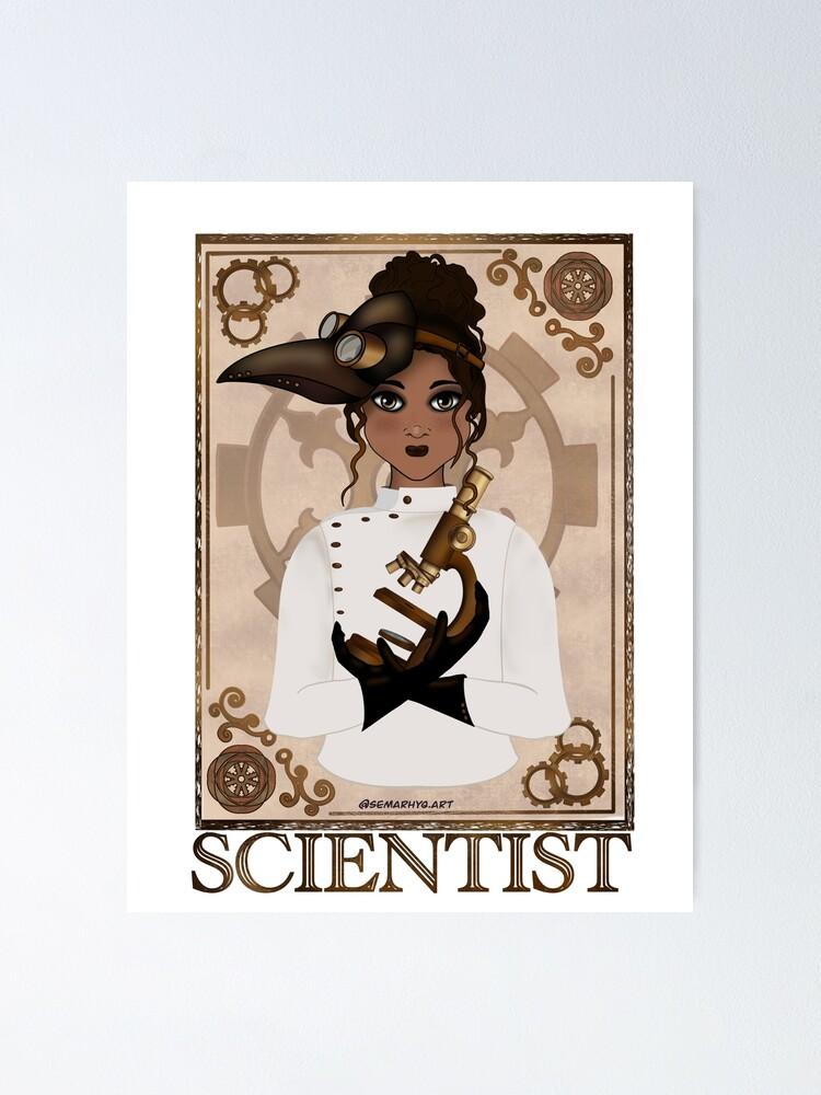 Alternate view of Scientist (STEAMpunk Art) Poster
