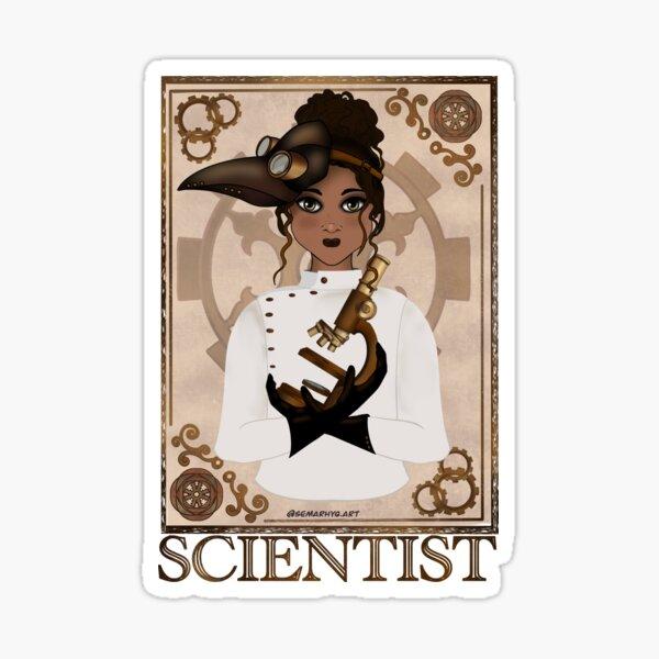 Scientist (STEAMpunk Art) Sticker