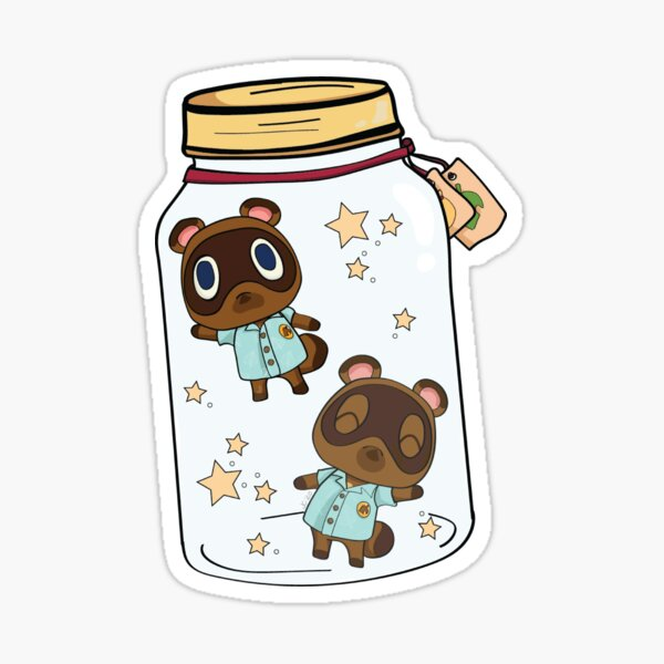 Timmy and Tommy ACNH Nooklings in a Jar Sticker