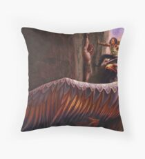 Fingon rescues Maedhros Throw Pillow