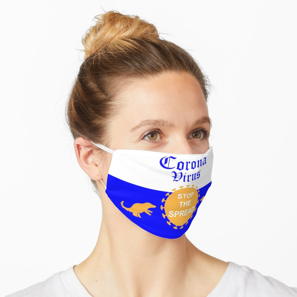 Corona Virus: Stop the Spread Beer Label Mask