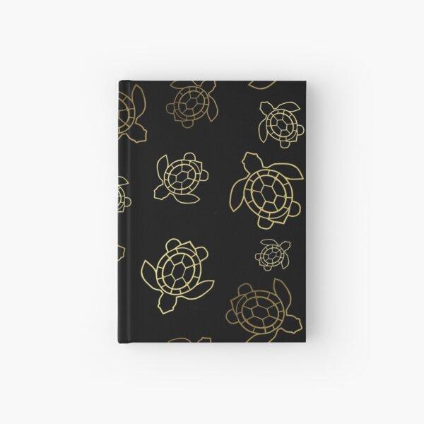 Gold Turtles On Black Hardcover Journal